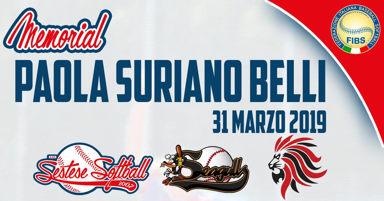 31 Marzo 2019Secondo Memorial Paola Suriano Belli